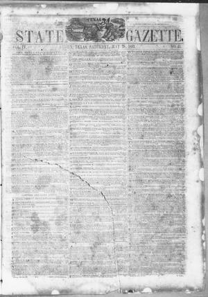 Primary view of object titled 'Texas State Gazette. (Austin, Tex.), Vol. 4, No. 41, Ed. 1, Saturday, May 28, 1853'.