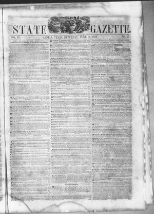 Primary view of object titled 'Texas State Gazette. (Austin, Tex.), Vol. 4, No. 43, Ed. 1, Saturday, June 11, 1853'.