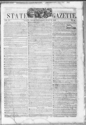 Primary view of object titled 'Texas State Gazette. (Austin, Tex.), Vol. 4, No. 45, Ed. 1, Saturday, June 25, 1853'.