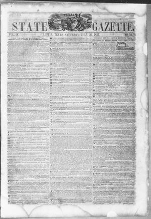 Primary view of object titled 'Texas State Gazette. (Austin, Tex.), Vol. 4, No. 50, Ed. 1, Saturday, July 30, 1853'.