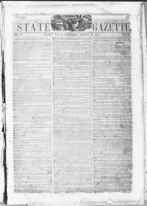 Primary view of object titled 'Texas State Gazette. (Austin, Tex.), Vol. 4, No. 52, Ed. 1, Saturday, August 13, 1853'.