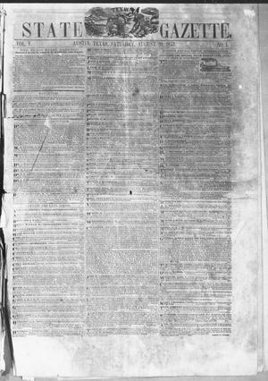 Primary view of object titled 'Texas State Gazette. (Austin, Tex.), Vol. 5, No. 1, Ed. 1, Saturday, August 20, 1853'.