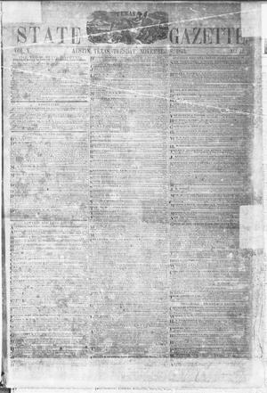 Primary view of object titled 'Texas State Gazette. (Austin, Tex.), Vol. 5, No. 12, Ed. 1, Tuesday, November 8, 1853'.