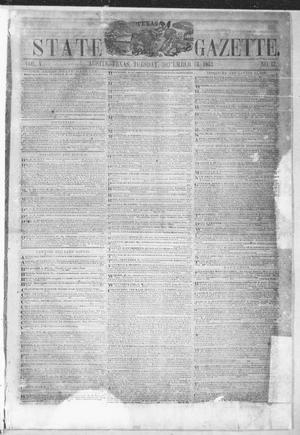 Primary view of object titled 'Texas State Gazette. (Austin, Tex.), Vol. 5, No. 17, Ed. 1, Tuesday, December 13, 1853'.