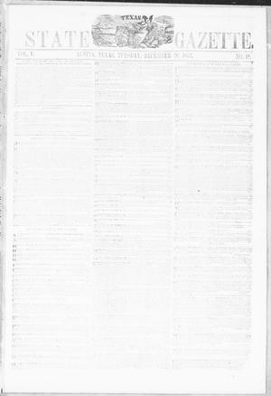 Primary view of object titled 'Texas State Gazette. (Austin, Tex.), Vol. 5, No. 18, Ed. 1, Tuesday, December 20, 1853'.