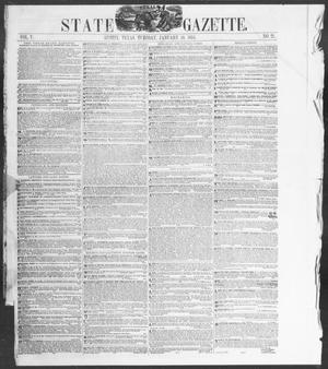 Primary view of object titled 'Texas State Gazette. (Austin, Tex.), Vol. 5, No. 21, Ed. 1, Tuesday, January 10, 1854'.