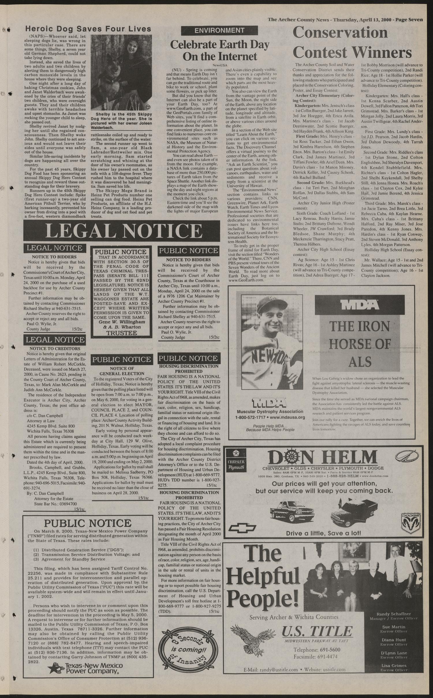 Archer County News (Archer City, Tex ), No  15, Ed  1