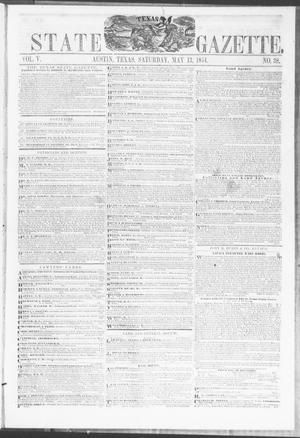 Primary view of object titled 'Texas State Gazette. (Austin, Tex.), Vol. 5, No. 38, Ed. 1, Saturday, May 13, 1854'.