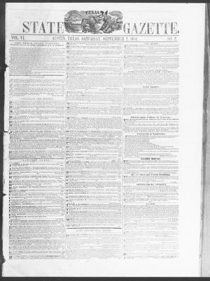 Primary view of object titled 'Texas State Gazette. (Austin, Tex.), Vol. 6, No. 2, Ed. 1, Saturday, September 2, 1854'.