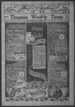 Primary view of object titled 'Timpson Weekly Times (Timpson, Tex.), Vol. 64, No. 51, Ed. 1 Friday, December 23, 1949'.
