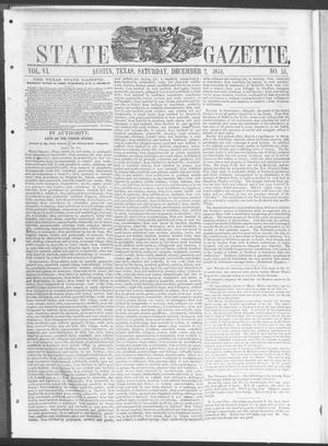 Primary view of object titled 'Texas State Gazette. (Austin, Tex.), Vol. 6, No. 15, Ed. 1, Saturday, December 2, 1854'.