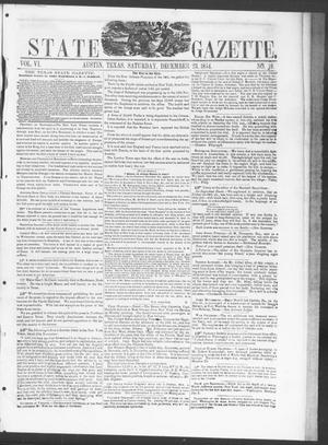 Primary view of object titled 'Texas State Gazette. (Austin, Tex.), Vol. 6, No. 18, Ed. 1, Saturday, December 23, 1854'.