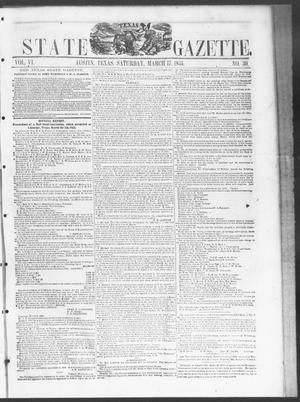 Primary view of object titled 'Texas State Gazette. (Austin, Tex.), Vol. 6, No. 30, Ed. 1, Saturday, March 17, 1855'.