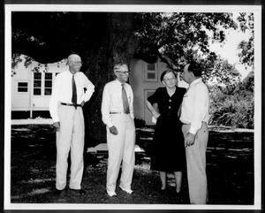 Primary view of object titled '[Albert Peyton George and Mamie Davis George with two unidentified men]'.
