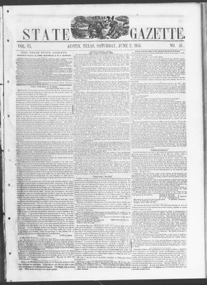 Primary view of object titled 'Texas State Gazette. (Austin, Tex.), Vol. 6, No. 41, Ed. 1, Saturday, June 2, 1855'.