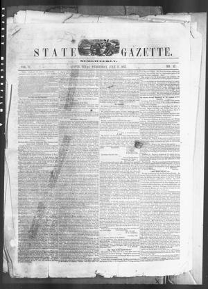 Primary view of object titled 'Texas State Gazette. (Austin, Tex.), Vol. 6, No. 47, Ed. 1, Wednesday, July 11, 1855'.