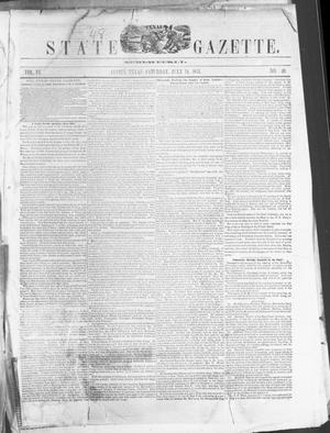 Primary view of object titled 'Texas State Gazette. (Austin, Tex.), Vol. 6, No. 48, Ed. 1, Saturday, July 14, 1855'.