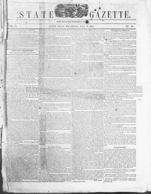 Primary view of object titled 'Texas State Gazette. (Austin, Tex.), Vol. 6, No. 49, Ed. 1, Wednesday, July 18, 1855'.