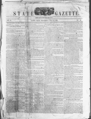 Primary view of object titled 'Texas State Gazette. (Austin, Tex.), Vol. 6, No. 51, Ed. 1, Wednesday, July 25, 1855'.