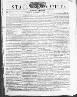 Primary view of object titled 'Texas State Gazette. (Austin, Tex.), Vol. 6, No. 52, Ed. 1, Wednesday, August 1, 1855'.