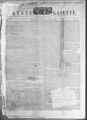 Primary view of Texas State Gazette. (Austin, Tex.), Vol. 6, No. 52, Ed. 1, Saturday, August 11, 1855