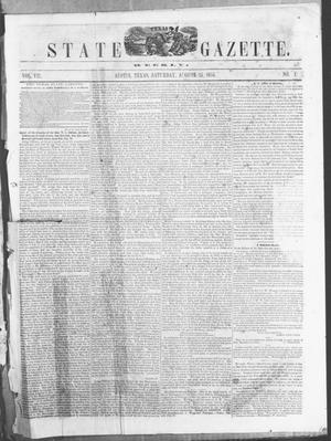 Primary view of object titled 'Texas State Gazette. (Austin, Tex.), Vol. 7, No. 1, Ed. 1, Saturday, August 25, 1855'.