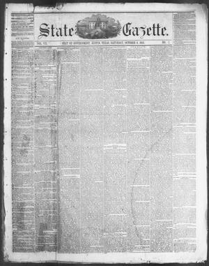 Primary view of object titled 'State Gazette. (Austin, Tex.), Vol. 7, No. 7, Ed. 1, Saturday, October 6, 1855'.