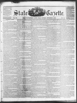 Primary view of object titled 'State Gazette. (Austin, Tex.), Vol. 7, No. 12, Ed. 1, Saturday, November 10, 1855'.