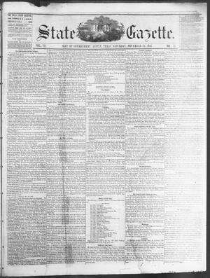 Primary view of object titled 'State Gazette. (Austin, Tex.), Vol. 7, No. 14, Ed. 1, Saturday, November 24, 1855'.