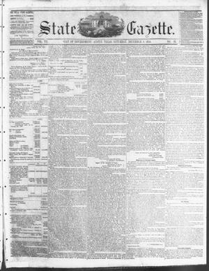 Primary view of object titled 'State Gazette. (Austin, Tex.), Vol. 7, No. 16, Ed. 1, Saturday, December 8, 1855'.