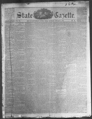 Primary view of object titled 'State Gazette. (Austin, Tex.), Vol. 7, No. 20, Ed. 1, Saturday, January 5, 1856'.