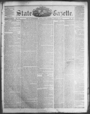 Primary view of object titled 'State Gazette. (Austin, Tex.), Vol. 7, No. 22, Ed. 1, Saturday, January 19, 1856'.