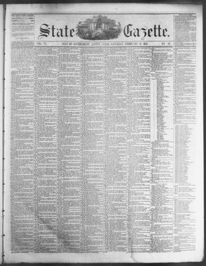 Primary view of object titled 'State Gazette. (Austin, Tex.), Vol. 7, No. 26, Ed. 1, Saturday, February 16, 1856'.