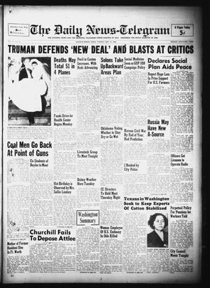 Primary view of object titled 'The Daily News-Telegram (Sulphur Springs, Tex.), Vol. 51, No. 230, Ed. 1 Tuesday, September 27, 1949'.