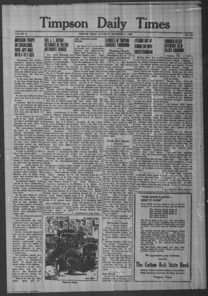 Primary view of object titled 'Timpson Daily Times (Timpson, Tex.), Vol. 41, No. 221, Ed. 1 Saturday, November 7, 1942'.
