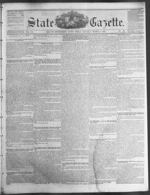 Primary view of object titled 'State Gazette. (Austin, Tex.), Vol. 7, No. 29, Ed. 1, Saturday, March 8, 1856'.