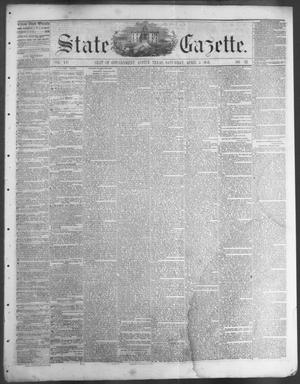 Primary view of object titled 'State Gazette. (Austin, Tex.), Vol. 7, No. 33, Ed. 1, Saturday, April 5, 1856'.