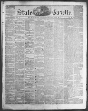 Primary view of object titled 'State Gazette. (Austin, Tex.), Vol. 7, No. 35, Ed. 1, Saturday, April 19, 1856'.