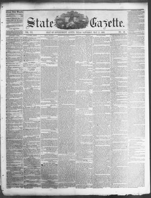 Primary view of object titled 'State Gazette. (Austin, Tex.), Vol. 7, No. 39, Ed. 1, Saturday, May 17, 1856'.