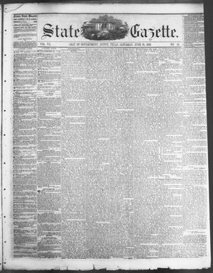 Primary view of object titled 'State Gazette. (Austin, Tex.), Vol. 7, No. 45, Ed. 1, Saturday, June 28, 1856'.