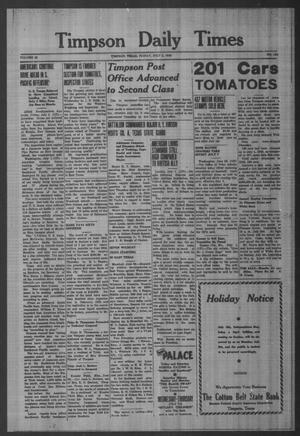Primary view of object titled 'Timpson Daily Times (Timpson, Tex.), Vol. 42, No. 134, Ed. 1 Friday, July 2, 1943'.