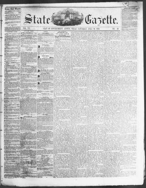Primary view of object titled 'State Gazette. (Austin, Tex.), Vol. 7, No. 49, Ed. 1, Saturday, July 26, 1856'.