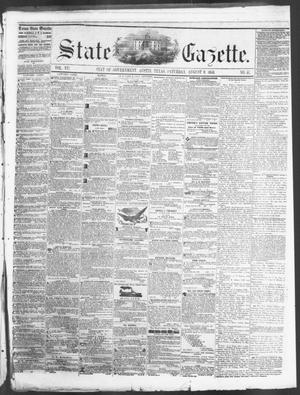 Primary view of State Gazette. (Austin, Tex.), Vol. 7, No. 51, Ed. 1, Saturday, August 9, 1856