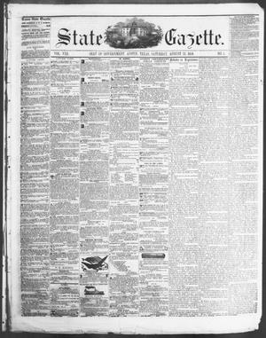 Primary view of State Gazette. (Austin, Tex.), Vol. 8, No. 1, Ed. 1, Saturday, August 23, 1856