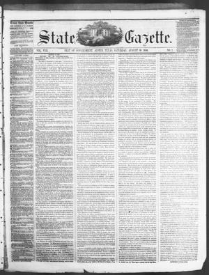 Primary view of object titled 'State Gazette. (Austin, Tex.), Vol. 8, No. 2, Ed. 1, Saturday, August 30, 1856'.