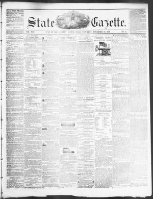 Primary view of object titled 'State Gazette. (Austin, Tex.), Vol. 8, No. 14, Ed. 1, Saturday, November 22, 1856'.