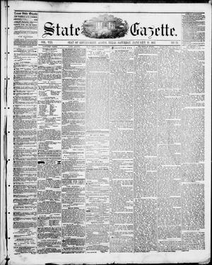 Primary view of State Gazette. (Austin, Tex.), Vol. 8, No. 24, Ed. 1, Saturday, January 31, 1857