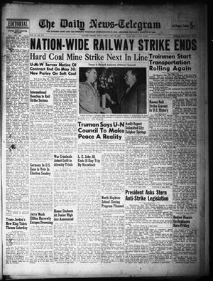 Primary view of object titled 'The Daily News-Telegram (Sulphur Springs, Tex.), Vol. 48, No. 126, Ed. 1 Sunday, May 26, 1946'.