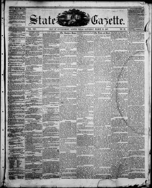 Primary view of object titled 'State Gazette. (Austin, Tex.), Vol. 8, No. 32, Ed. 1, Saturday, March 28, 1857'.