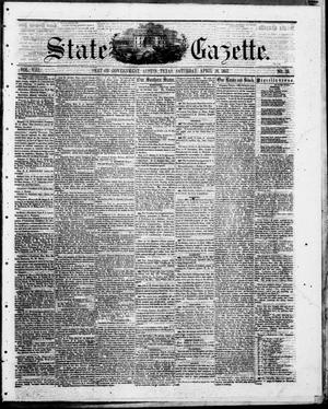 Primary view of object titled 'State Gazette. (Austin, Tex.), Vol. 8, No. 35, Ed. 1, Saturday, April 18, 1857'.